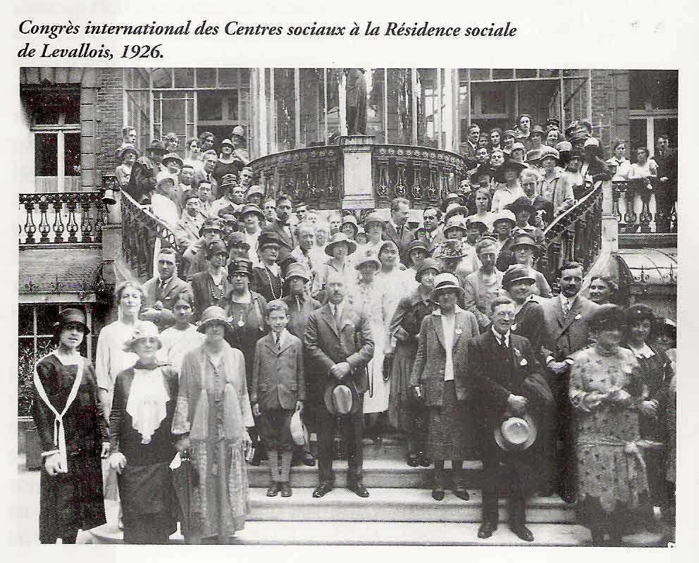 Congrès international des Centres sociaux à la Résidence sociale (1926)